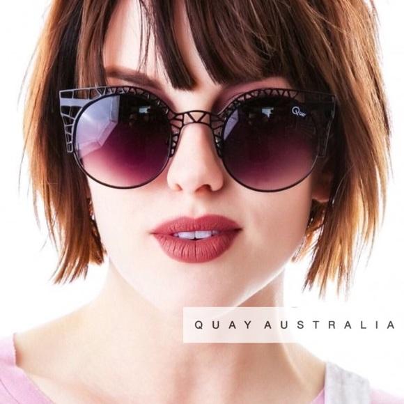 231408e3f5 Quay Australia Fleur Cut Out Cat Eye Sunglasses